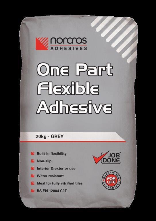 5  Norcros One Part Flexible Adhesive (Grey)