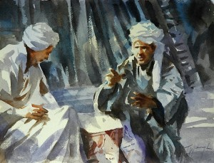 bartering watercolour