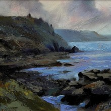 Cape Cornwall, watercolour
