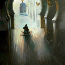 Entrance to a Mosque painting Trevor Waugh