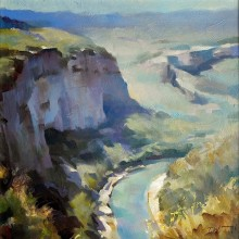 Gorges du Verdon France, watercolour