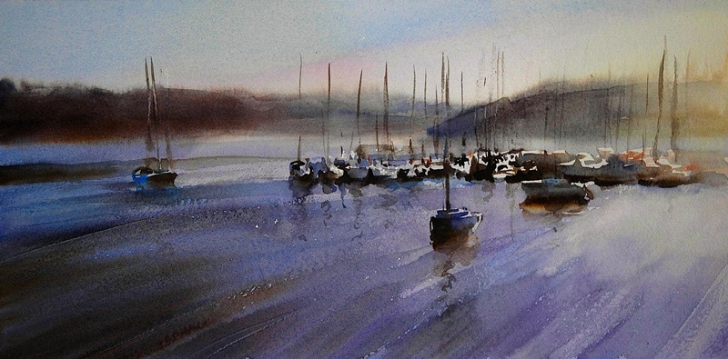 Kinsale Harbour, watercolour