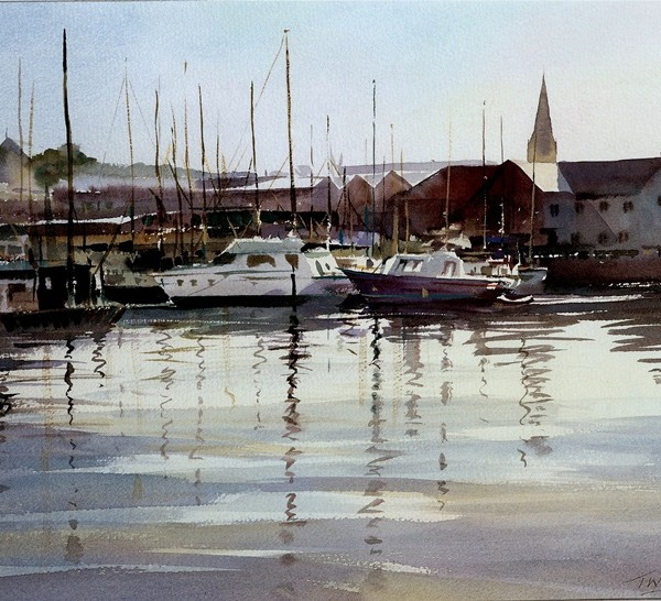 Plymouth Harbour, watercolour