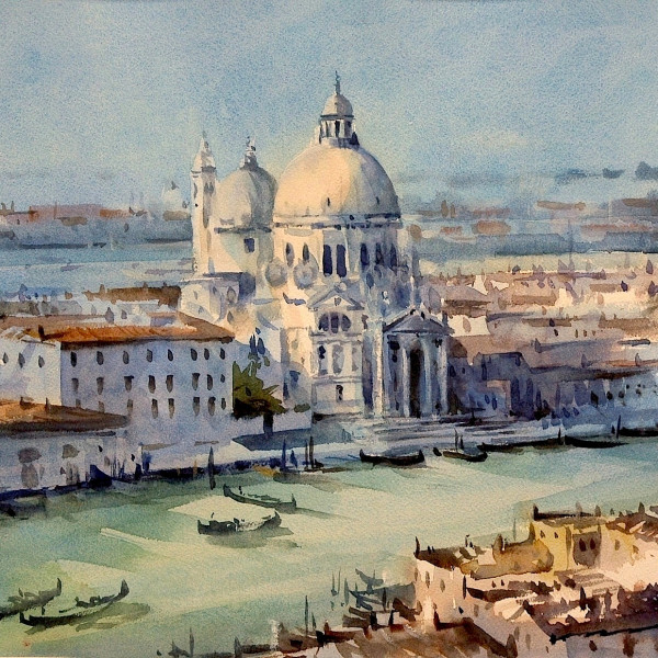 Venice painting from the campanille