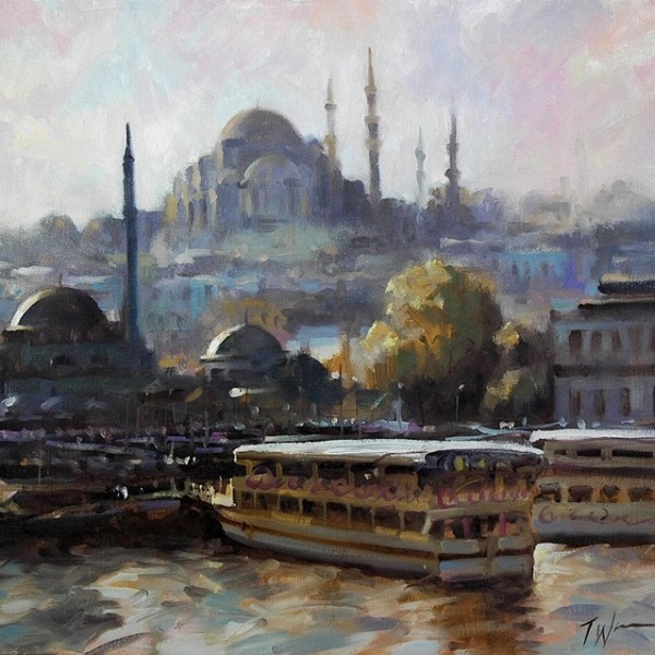 Istanbul, Oil painting by Trevor Waugh