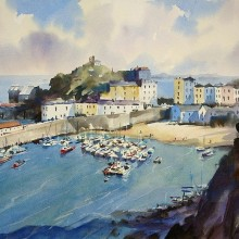 Tenby, watercolour by Trevor Waugh