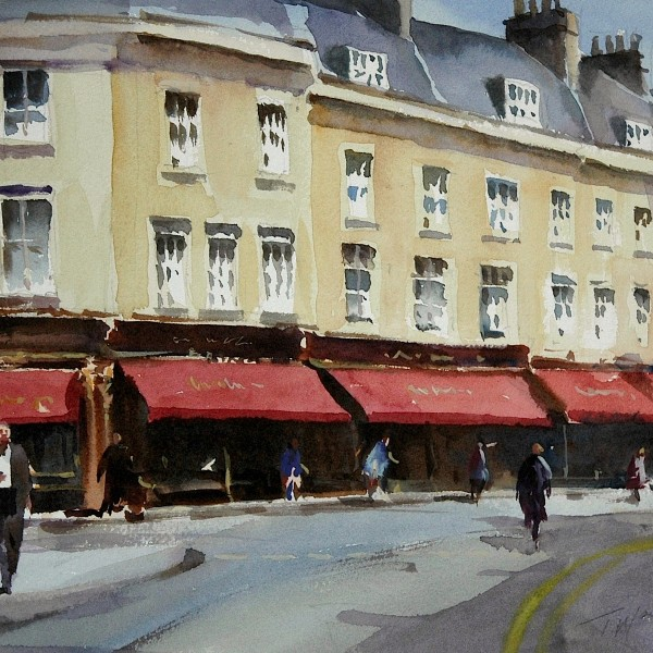 Watercolour of Bath by Trevor Waugh