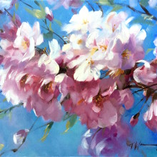 """Cherry Blossom"" / Oil on canvas 20"" x 16"""