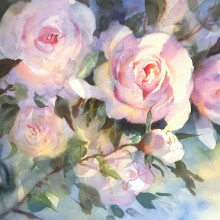 love rose, original art by Trevor Waugh