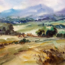 snowdonia foothills, original art by Trevor Waugh