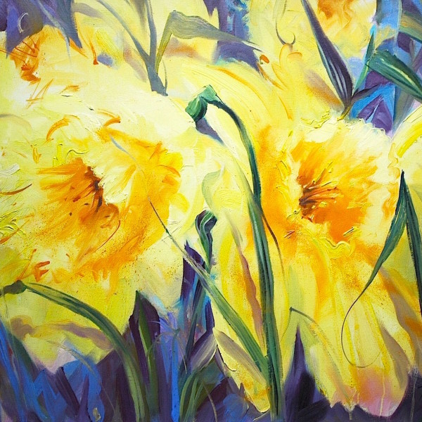 daffodills, original art by Trevor Waugh