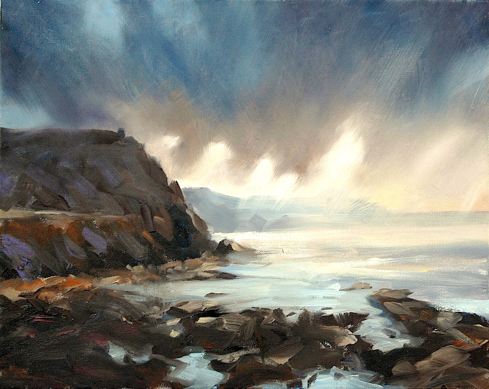 """Cape Cornwall"" / Oil on canvas 20"" x 16"""