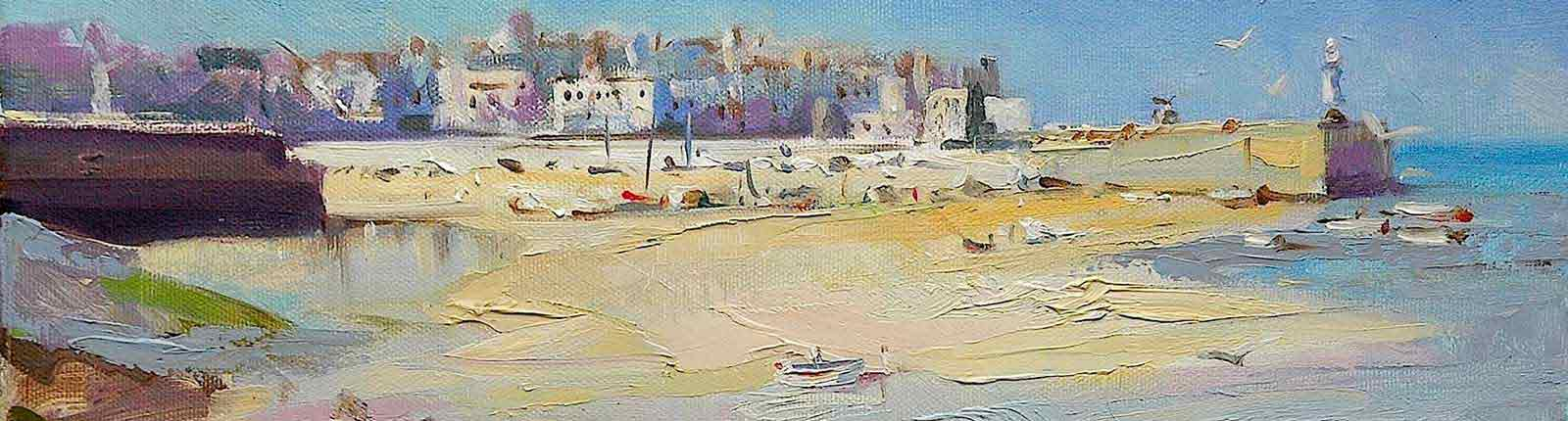 Painting of Cornwall by fine art painter Trevor Waugh