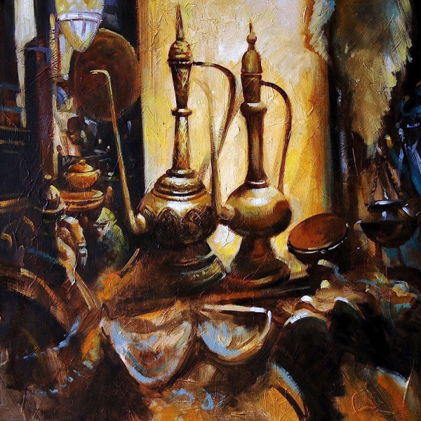 Persian Coffee Cups, original art by Trevor Waugh