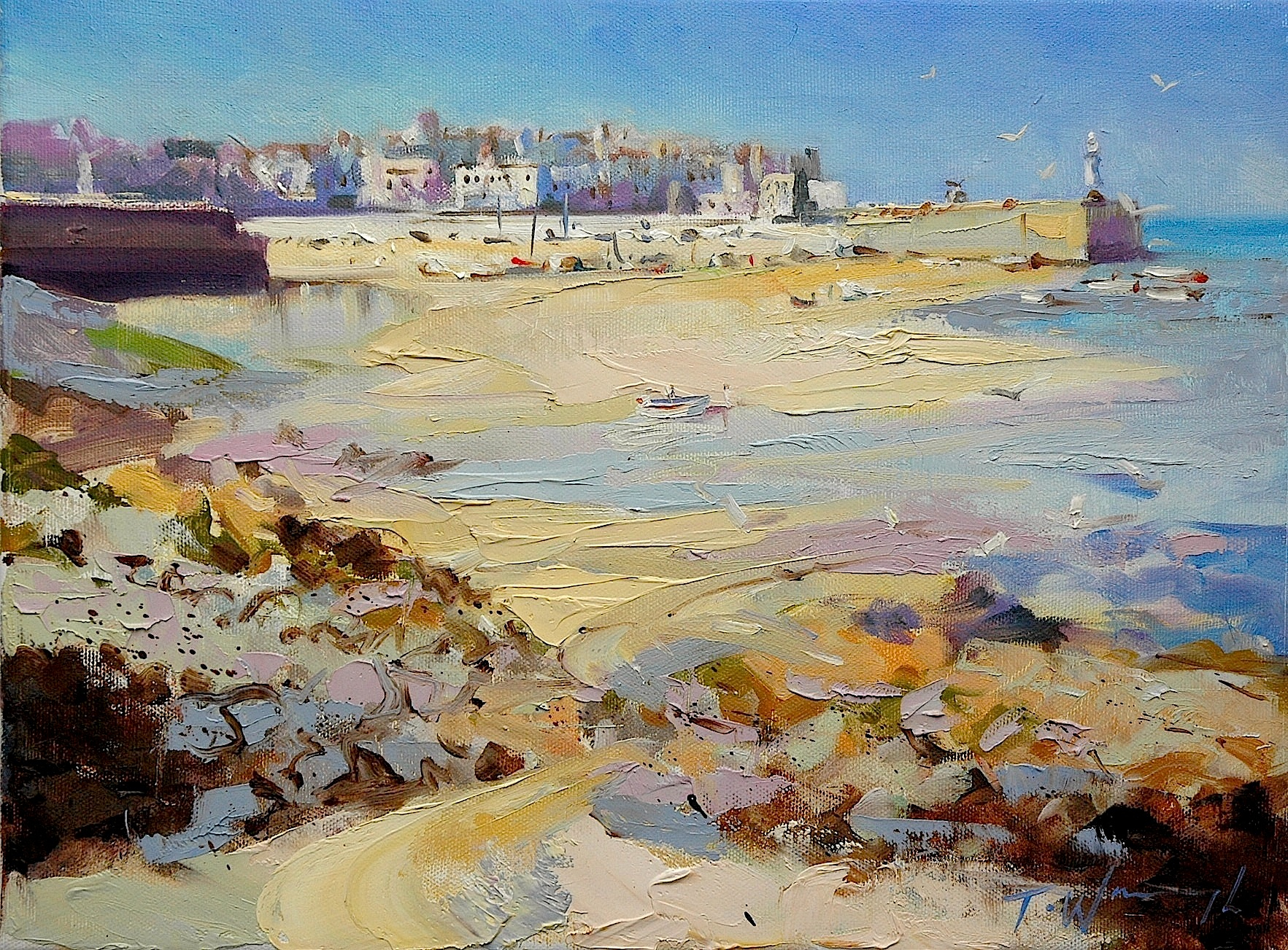 St Ives, original art by Trevor Waugh