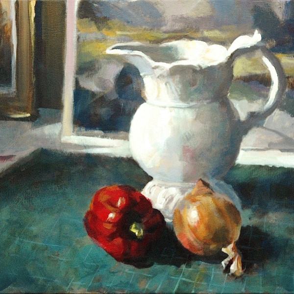 The French Jug, original art by Trevor Waugh