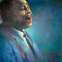 Jazz singer, original art by Trevor Waugh