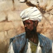"""Camelman"" oil on canvas 30"" x 24"""