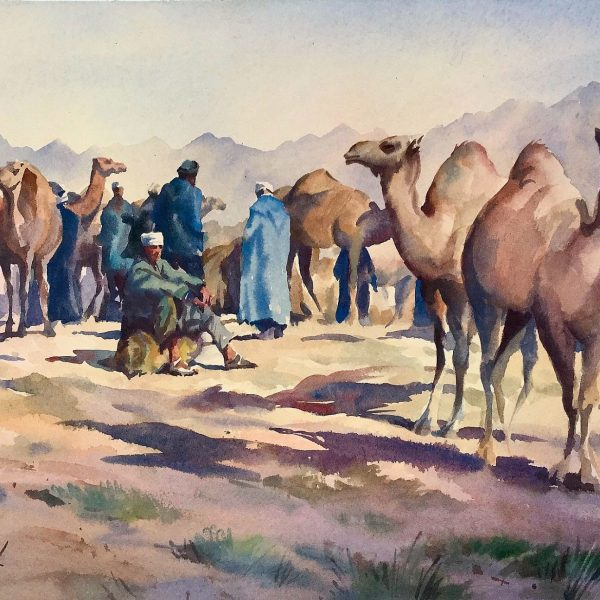 Chit Chat Desert Stop Watercolour