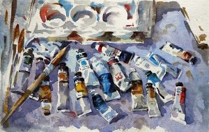 Tools of the Trade Watercolour