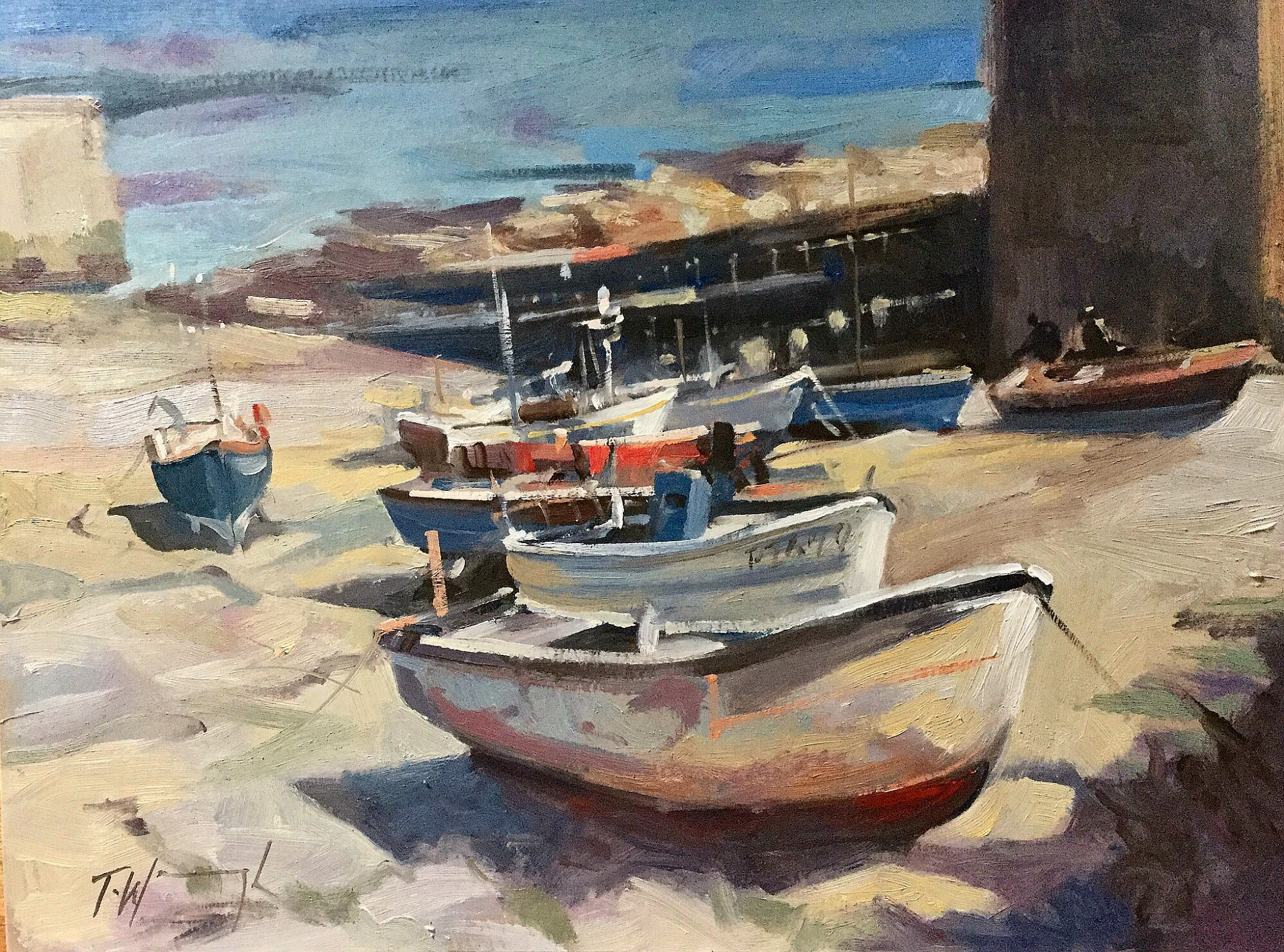 Fishing Boats at Sennen Cornwall