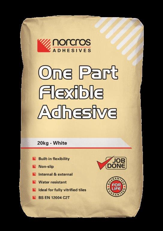6 Norcros One Part Flexible Adhesive (White)