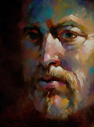 Trevor Waugh, Self-Portrait of Artist, oil on canvas